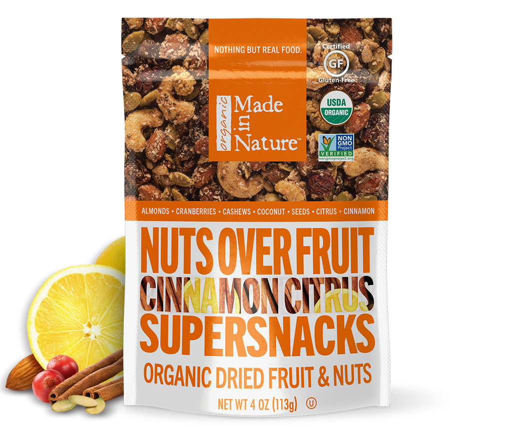 Cinnamon Citrus Nuts Over Fruit