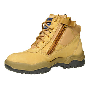 "261050 - Zip Sider 6"" Safety Boot - Wheat"