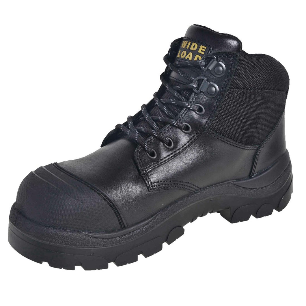 690BL - Lace Up Extra Wide Safety Boot
