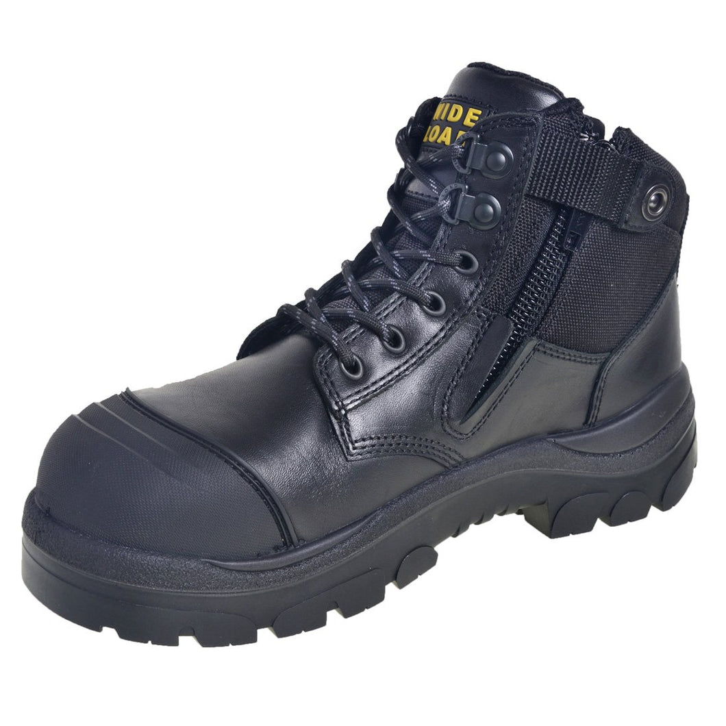 4d6b10680c9 690BZ - Side Zip Extra Wide Safety Boot – Black