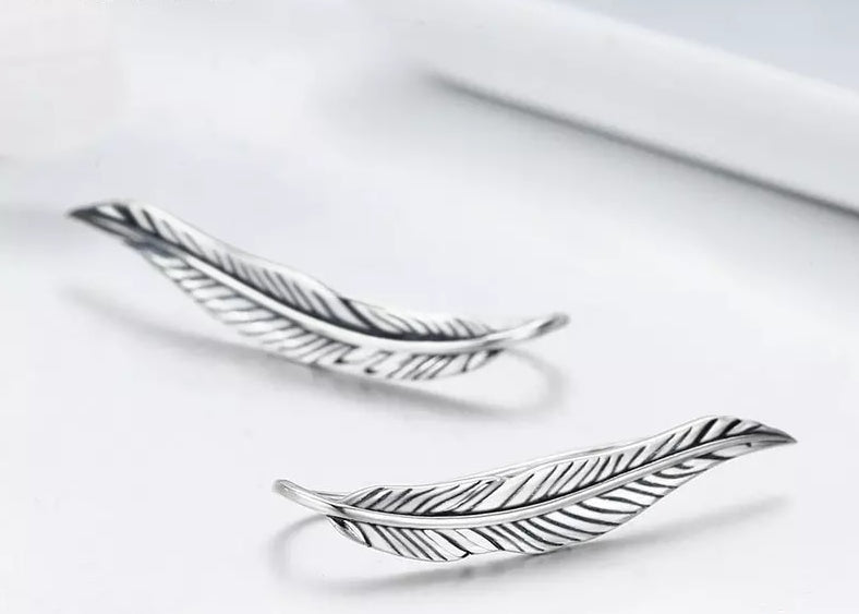 The Feather Sterling Silver | CATICA Couture - CATICA Couture