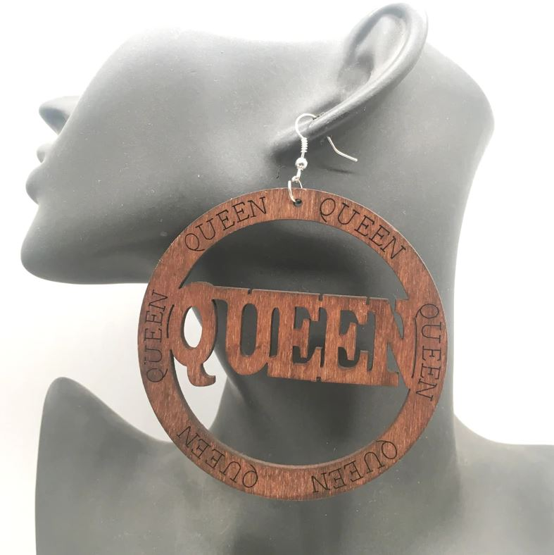 The Queen Wooden Earrings | CATICA Couture - CATICA Couture