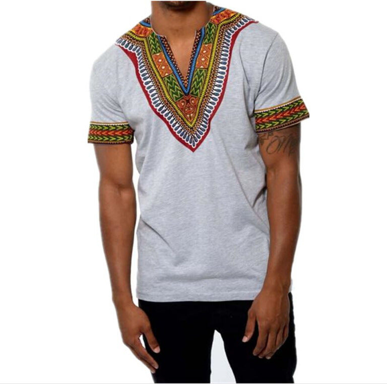 The Dominant Grey Tribal T-Shirt | CATICA Couture - CATICA Couture