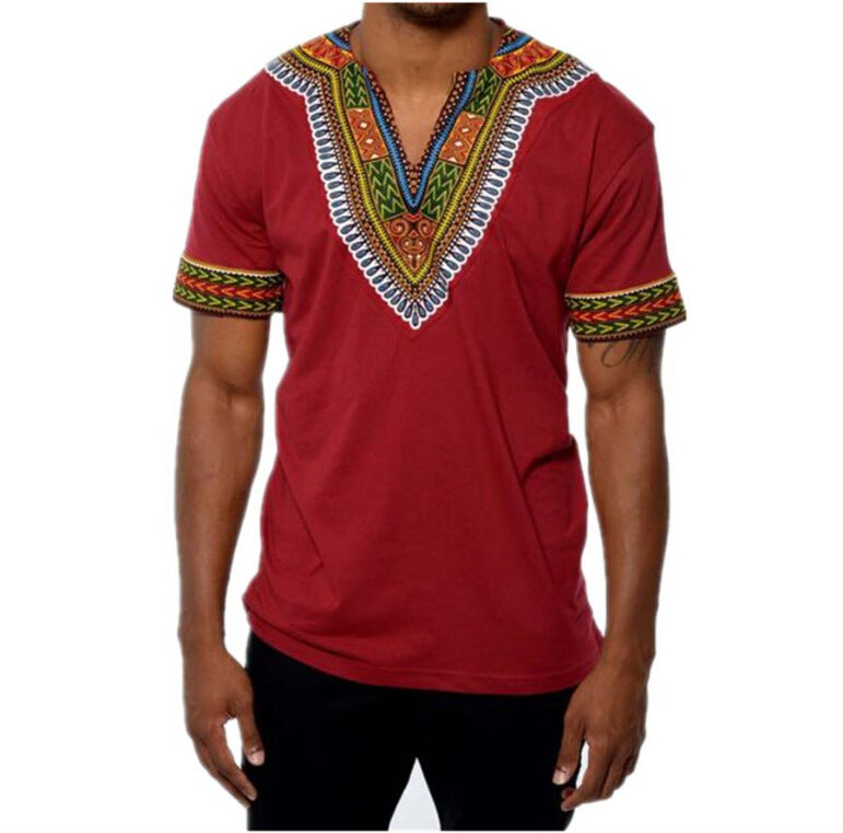 The Dominant Red Tribal T-Shirt | CATICA Couture - CATICA Couture