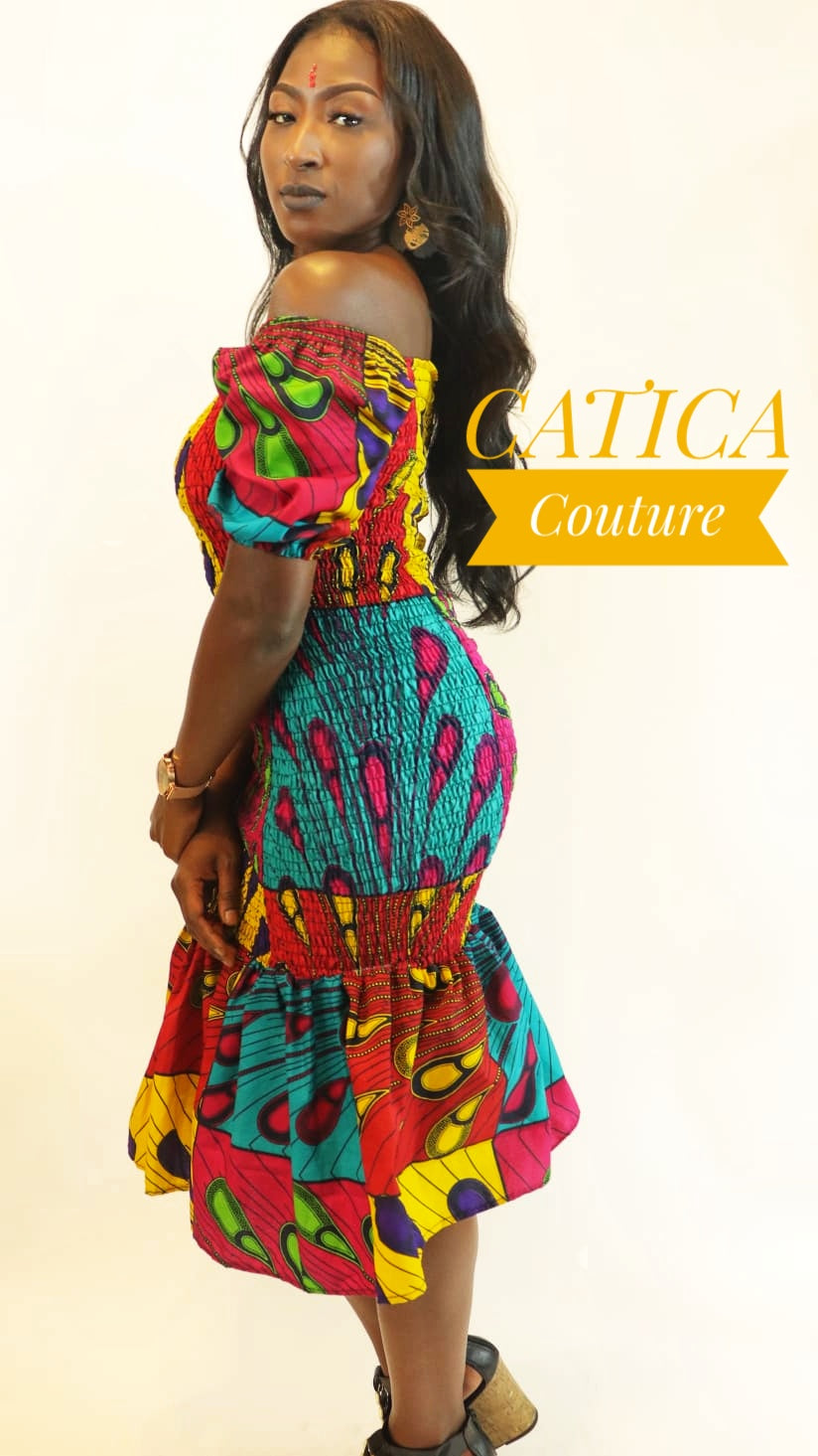 The Peacock Elastic Dress | CATICA Couture - CATICA Couture