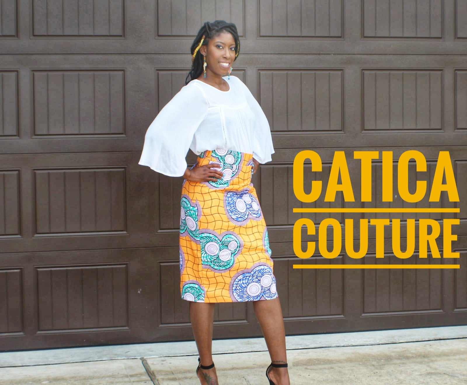 Starburst Pencil Skirt | CATICA Couture - CATICA Couture