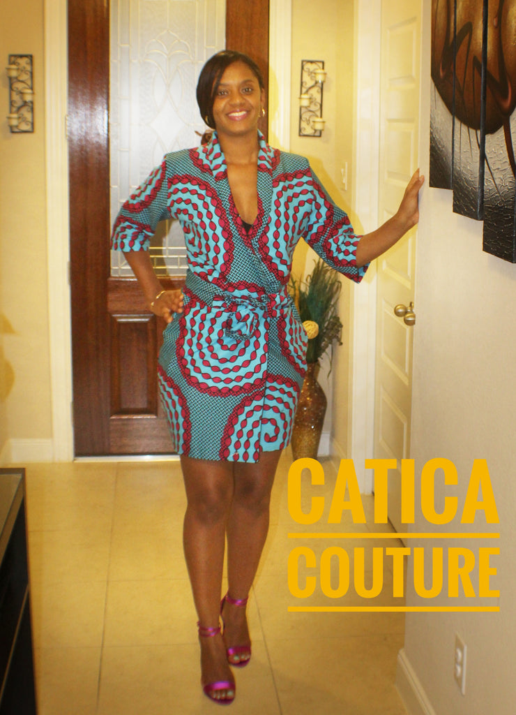The Kano Ankara Wrap Dress | CATICA Couture - CATICA Couture