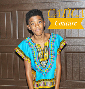 Open image in slideshow, The Future Kids Dashiki Shirt | CATICA Couture - CATICA Couture