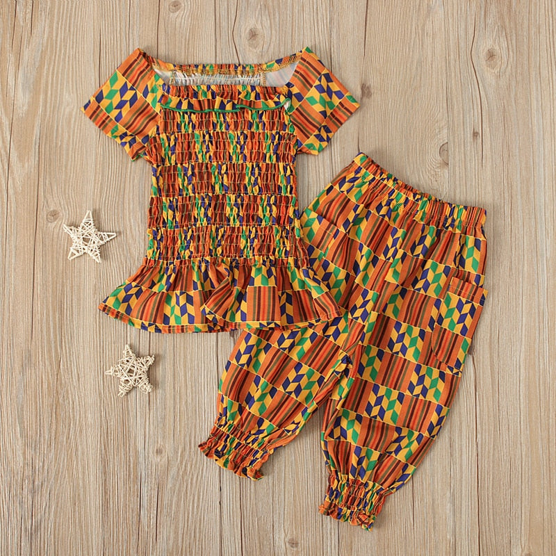 Little Dashiki African Print Girl Pants Set | CATICA Couture - CATICA Couture