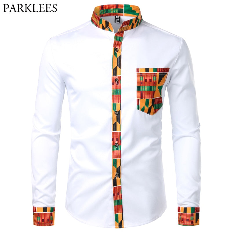 Dashiki African Men's  Button Shirt  | CATICA Couture - CATICA Couture
