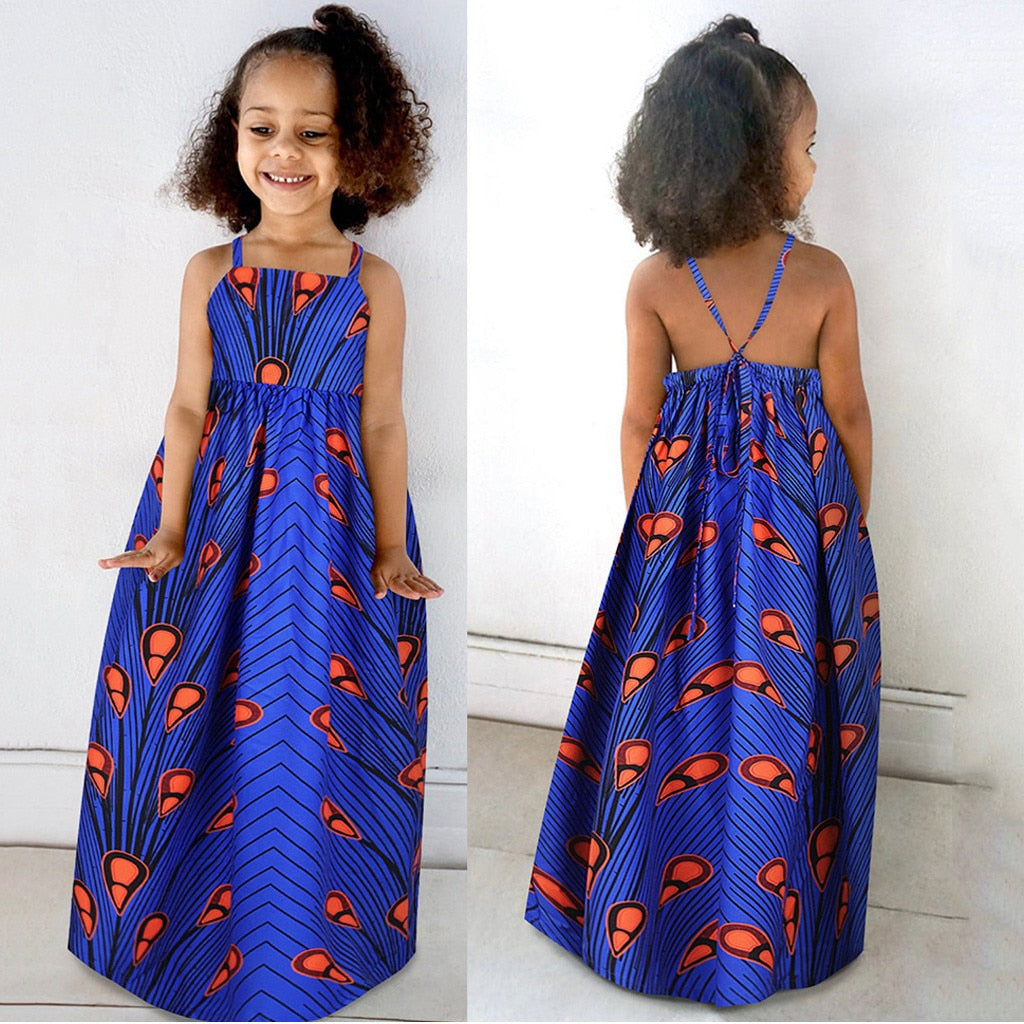 Summer Dress for Girls African Dashiki | CATICA Couture - CATICA Couture