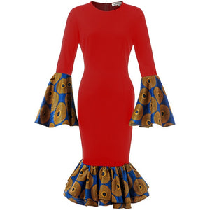Open image in slideshow, Kilo Ankara Fitted Dress | CATICA Couture - CATICA Couture