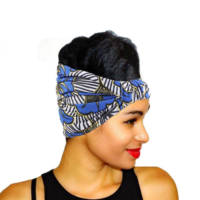 African Print Cotton Headband / Elastic Headwear | CATICA Couture - CATICA Couture