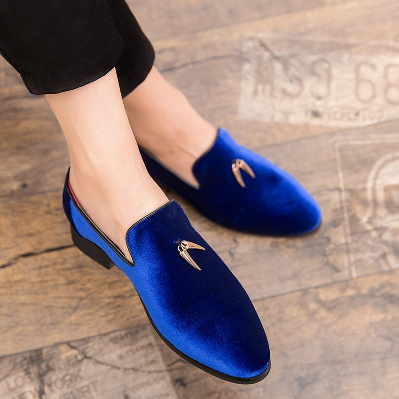 The Horn - Velvet Loafers  | CATICA Couture - CATICA Couture