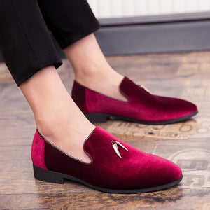 Open image in slideshow, The Horn - Velvet Loafers  | CATICA Couture - CATICA Couture