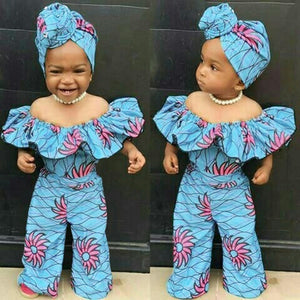 Dashiki African Style Print Romper For Toddler Baby Girls | CATICA Couture - CATICA Couture