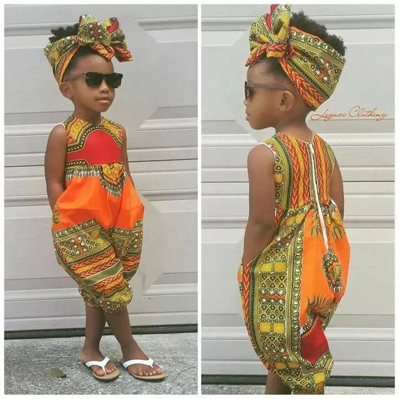 Baby Girls Kids African Jumpsuit | CATICA Couture - CATICA Couture