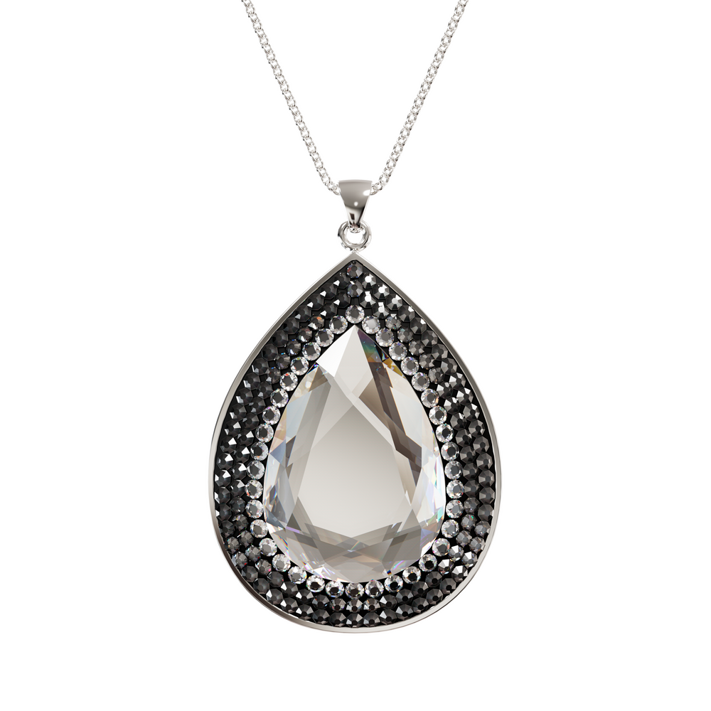 Larentia Drop Sterling Silver Pendant Necklace