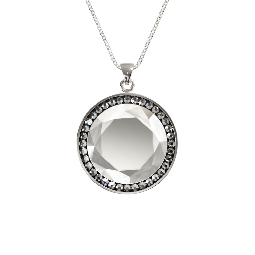 Larentia Round Sterling Silver Pendant Necklace