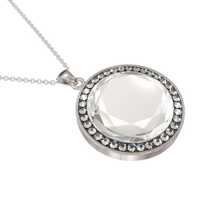 Load image into Gallery viewer, Larentia Round Sterling Silver Pendant Necklace