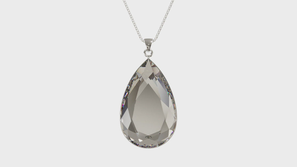 Load and play video in Gallery viewer, Larentia Drop Sterling Silver Pendant Necklace