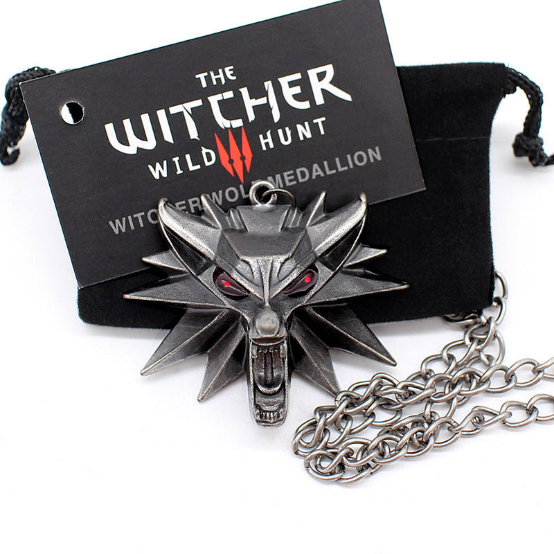 The Witcher Wolf Necklace