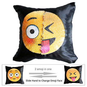 Cute Emoji Cushion Cover Reversible