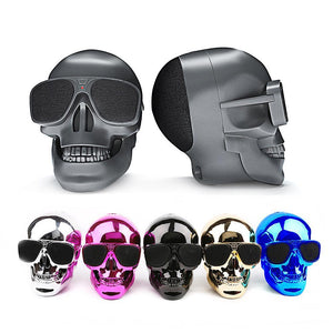 New Metallic Skull Shape Wireless Bluetooth Speaker