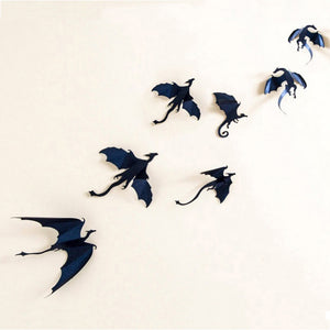 3D Gothic Dragons Wall Sticker