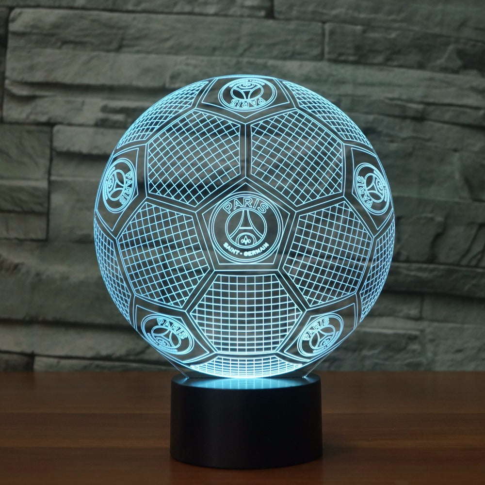 3D Illusion Lamp Soccer Night Light