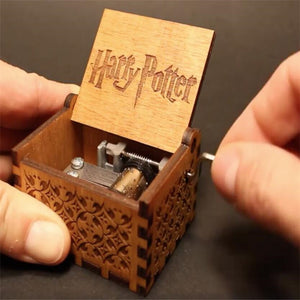 Harry Potter Antique Carved Wooden Music Box