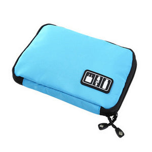 Portable Travel Zipper Cable Storage Bag