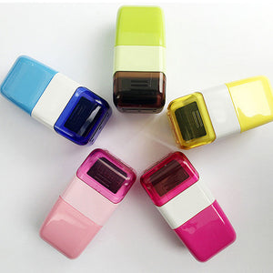 Portable Roller Self Covering  Identity Theft Protection Stamp