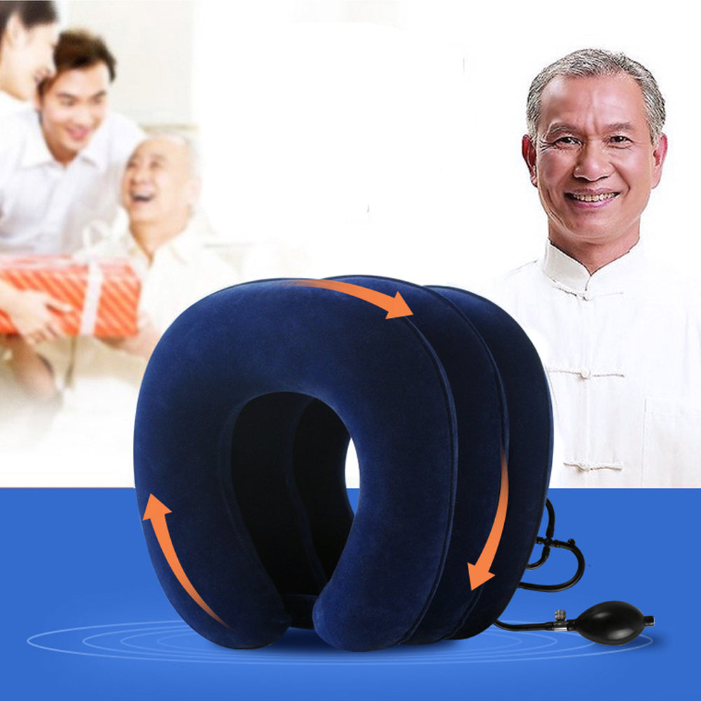 U-Shape Soft Inflatable Pillow for Neck Pain Relief