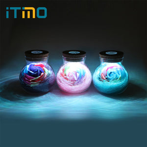 LED Dimmer Flower Night Lamp