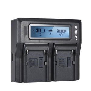 Dual Channel Digital Battery Charger w/ LCD Display