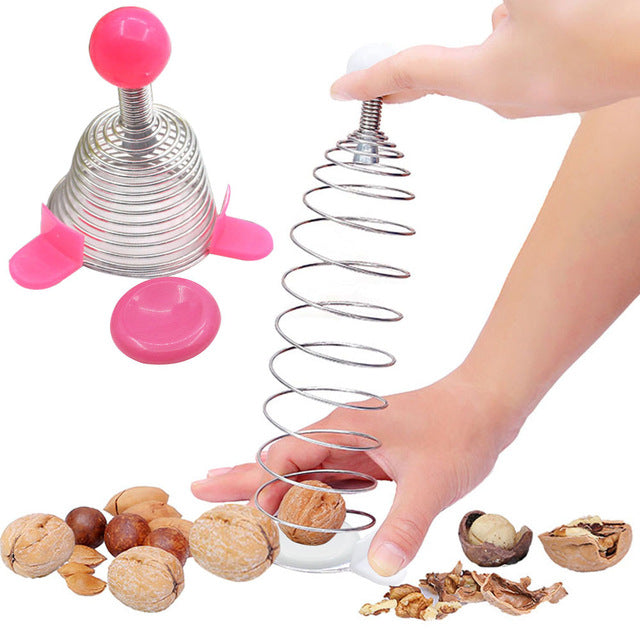 Stainless Steel Spring Nut Cracker