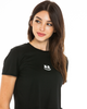 Soft Smile Crop T-Shirt — Black