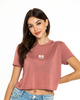 Soft Smile Crop T-Shirt — Mauve