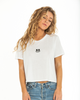 Soft Smile Crop T-Shirt — White