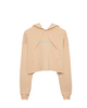 Heavy Stitch Women's Crop Hoodie — Peach