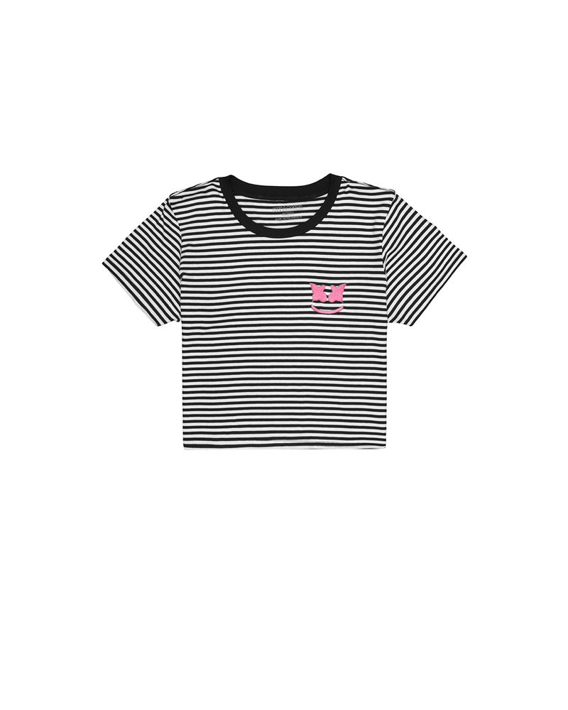 Mellofly Crop Striped T-Shirt