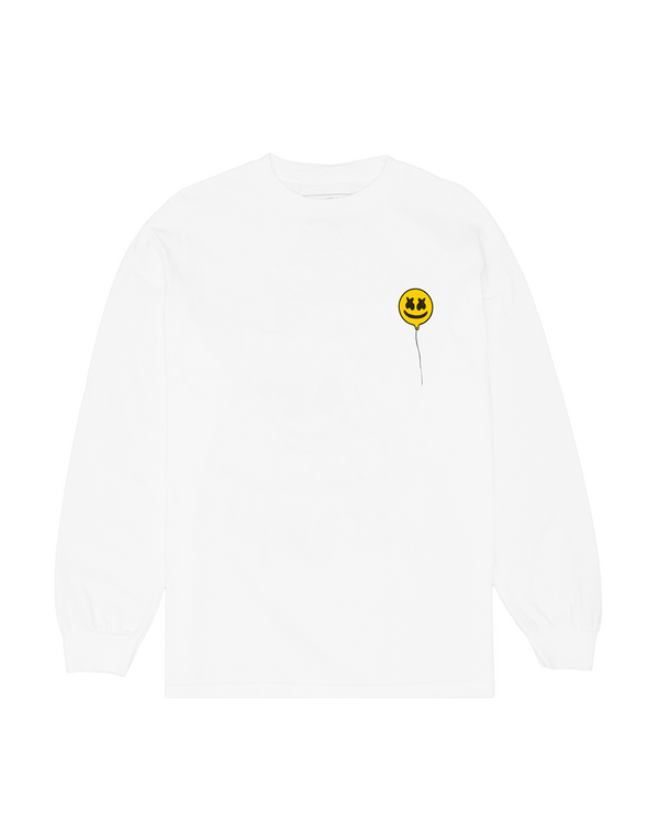 Fly With Me L/S Shirt HAPPIER Mellogang S White