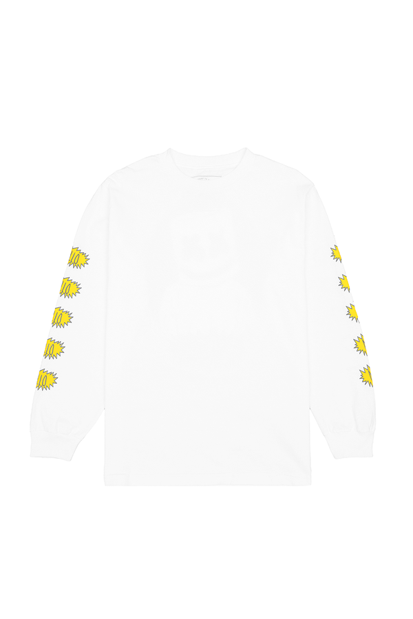 Best Friend L/S Shirt LONG SLEEVE Mellogang S White
