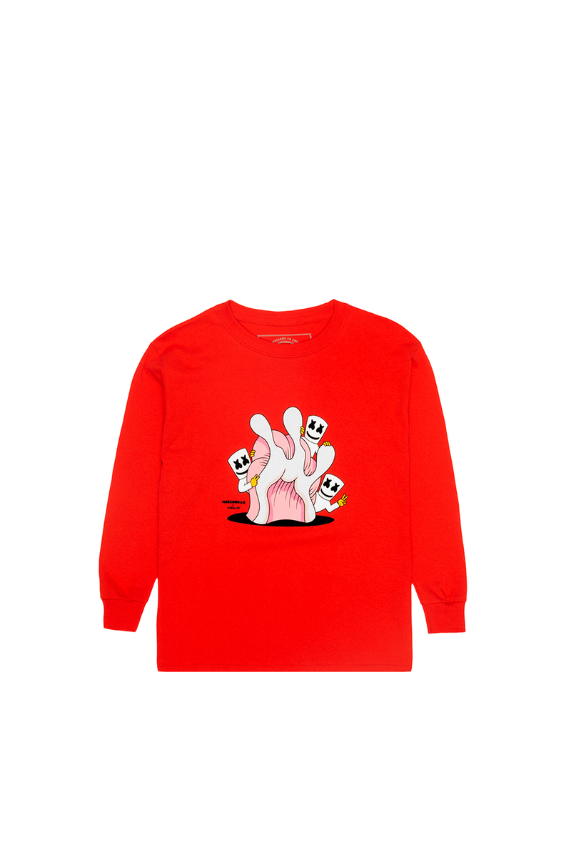 Hide & Seek L/S Shirt (Youth) YOUTH Mellogang XS Red
