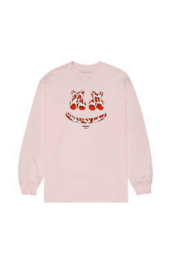 Kai Smile L/S Shirt LONG SLEEVE Mellogang S Pink