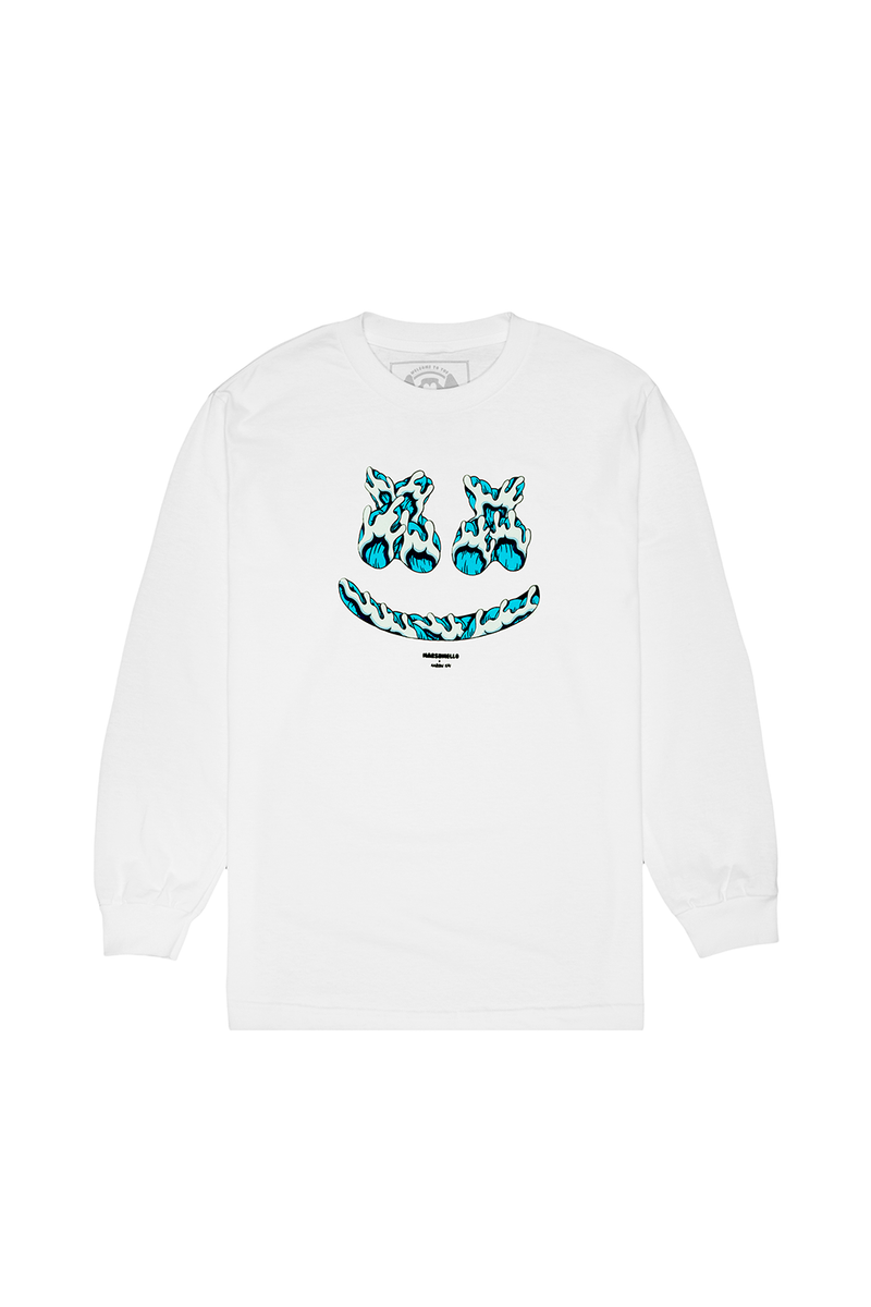 Kai Smile L/S Shirt LONG SLEEVE Mellogang S White