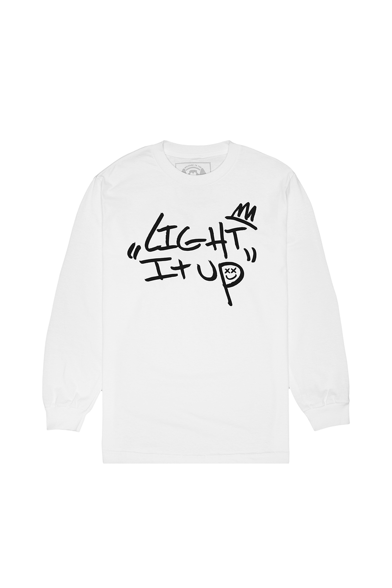 Light It Up L/S Shirt LONG SLEEVE Mellogang S White
