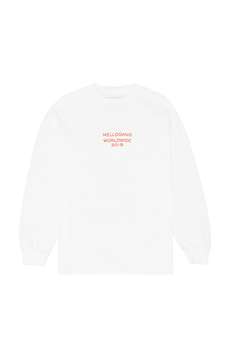 Mello World L/S Shirt LONG SLEEVE MelloGang S White