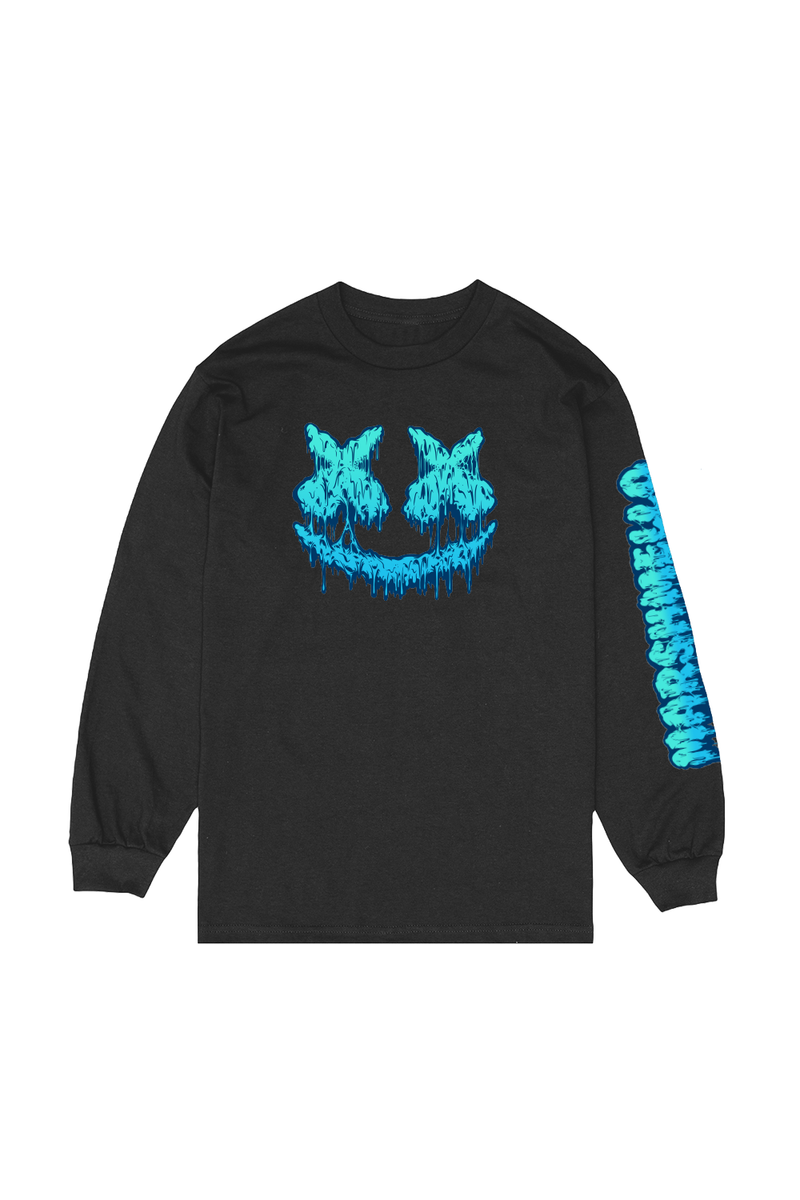 Slime Smile L/S Shirt LONG SLEEVE Mellogang S Black